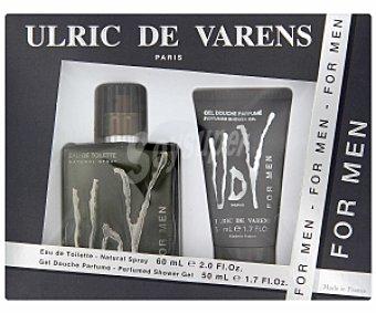 ULRIC de VARENS Estuche Colonia 60ml + Gel perfumado ducha 50ml 1 Unidad
