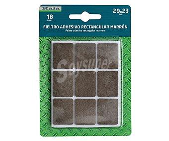 RAIA Fieltro Adhesivo Cuadrado Doble y Marrón de 29 Milímetros y Grosor de 3 Milímetros 1 Unidad