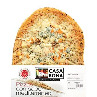 CASA BONA Pizza tradicional 4 quesos envase 600 g Envase 600 g
