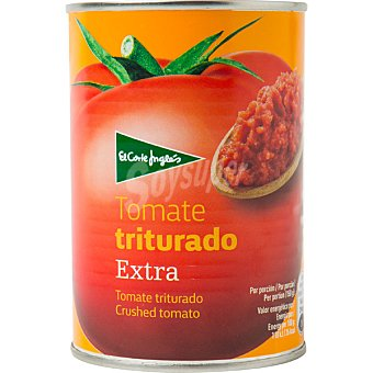 El Corte Inglés Tomate natural triturado calidad extra Lata 400 g