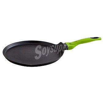 QUID Iron Crepera de aluminio forjado con mango en color verde 28 cm 1 Unidad