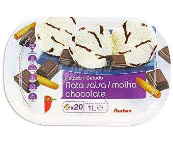 Auchan Tarrina Helado de Nata con Chocolate 1L