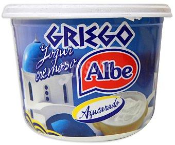 ALBE Yogur griego, cremoso, natural, azucarado y sin gluten 500 gramos