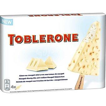 Toblerone Helado de nougat con trocitos de turrón 4 unidades Estuche 400 ml
