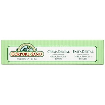 CORPORE SANO Crema dental extractos naturales de mirra própolis e hinojo Envase 75 ml