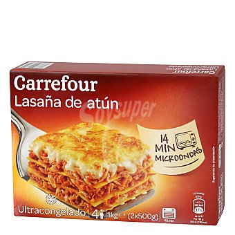Carrefour Lasaña de atún Pack 2x500 g