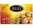 Berberechos pequeños al natural Lata de 63 grs Dani