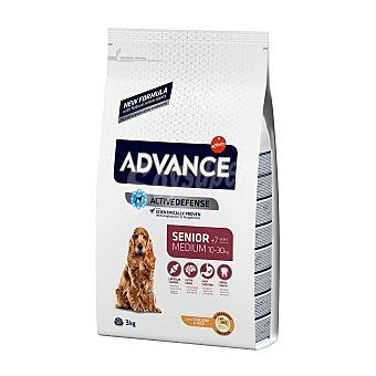 Advance medium Senior pienso de alta gama para perros adultos de + 7 años de raza mediana rico en pollo y arroz Bolsa 3 kg