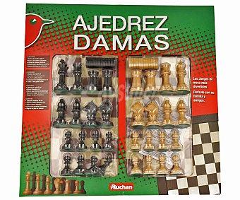 Auchan Juego de Tablero Ajedrez y Damas 1 Unidad