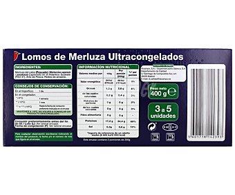 Auchan Lomos de merluza 400 gramos