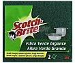 Estropajo de fibra verde popular gigante Pack 2 unid Scotch Brite