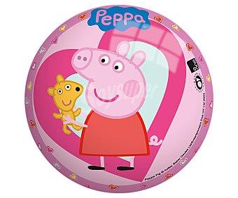 PEEPA PIG Pelota infantil de 14 centímetros decorada con los personajes de la serie 1 unidad