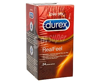 DUREX Preservativos Real Feel Ultra Sensitive caja  24 unidades