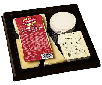 Cantorel Tabla surtida de 5 quesos franceses 400 g