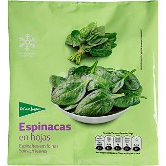 El Corte Inglés espinacas en hojas bolsa 1000 g