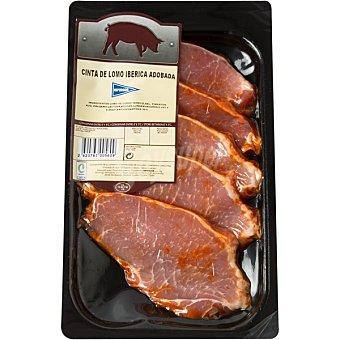 Hipercor Lomo adobado de cerdo ibérico en filetes peso aproximado Bandeja 250 g