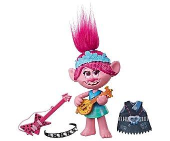Trolls Muñeca Poppy de 32cm. musical con diferentes atuendos, trolls.