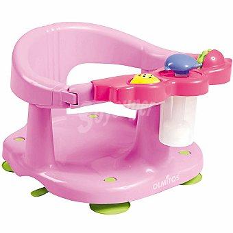OLMITOS Asiento protector para baño con actividades en color rosa