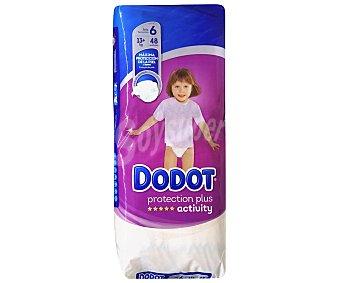 Dodot Activity Pañales de la talla 6, para niños de más de 13 kilogramos protection plus 48 uds