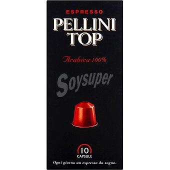 PELLINI ESPRESSO Top café arábica 100% caja 10 cápsulas caja 10 c