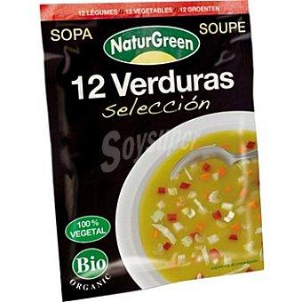 Naturgreen Sopa 12 verduras selección ecológicas 100% vegetal Envase 40 g