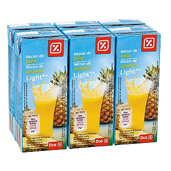 DIA Néctar light piña pack 6 unidades 200 ml Pack 6 unidades 200 ml