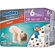 Premium pañales de 18 a 30 kg talla 6 envase 38 unidades 6 envase 38 unidades Moltex