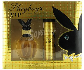 Playboy Fragrances Estuche Colonia Mujer Vip: Colonia 75ml+ Desodorante 75 ml 1u