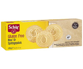Schär Bisc'Cor galletas de mantequilla sin gluten caja 120 g