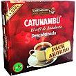 Café descafeinado molido paquete 500 g 2x250g Catunambu