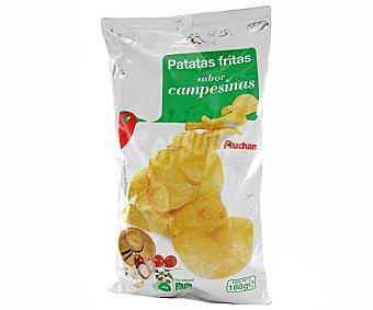 Auchan Patatas fritas lisas con sabor campesina Bolsa de 160 g