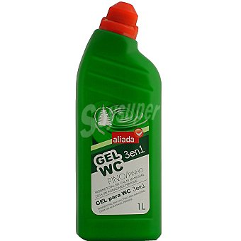 Aliada Desinfectante gel WC 3 en 1 pino Botella 1 l