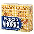 Caldo natural de pollo Pack 2 x 1 litro Aneto