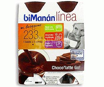 Bimanan Batido de Chocolate Go 4x236g