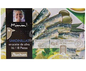 Mmm Auchan Sardinillas en Aceite de Oliva 16/18 Piezas 80 Gramos