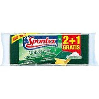 Spontex Estropajo Salvauñas  Pack 2+1 gratis