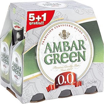 Ambar Green Cerveza sin alcohol +1 gratis Pack 5 botella 25 cl