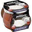cuajada natural sin tocino envase 140 g Montero