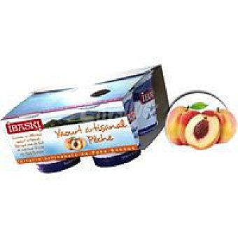 IBASKI Yogur batido de melocotón Pack 4x125 g