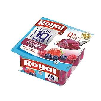 Royal Gelatina light 10 kcal sabor a frutas del bosque 0% azúcares añadidos Pack 4 unidades 100 g