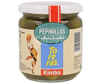 KIMBO TORERAS Pepinillos rellenos de anchoas 140 g neto escurrido