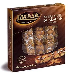 LACASA Turrón de guirlache de Aragón con almendras  estuche 240 g