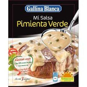 Gallina Blanca Salsa pimienta verde para carnes Sobre 60 g