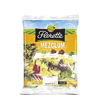 FLORETTE Ensalada Mezclum (escarola rizada, radicchio, brote de lechuga rojo y espinaca baby) 150 Gramos