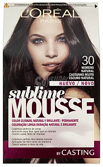 Sublime L'Oréal Paris Tinte moreno natural nº 300 caja 1 unidad 300 caja 1 unidad
