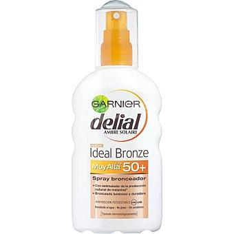 Delial Garnier Spray bronceador FP-50+ resistente al agua Ideal Bronze Spray 200 ml