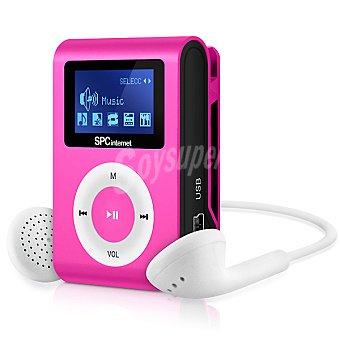 SPC TELECOM Reproductor MP3 de música Clip&go rosa 4 GB