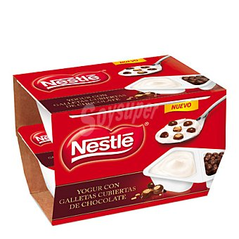 Nestlé Yogur con galletas cubiertas de chocolate 2x115 g