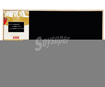 Auchan Pizarra tradicional de color negro, con marco de madera y medidas de 60 x 40 centímetros auchan 60x40cm