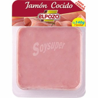ElPozo Jamón cocido I lonchas Bandeja 140 g